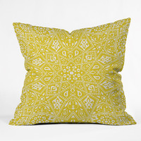 Aimee St Hill Amirah Yellow Throw Pillow