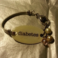 Medical Bracelet Allergy Diabetes Alert CUSTOM
