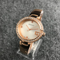 Trendy Gucci Diamonds Alloy Watch Business Watches