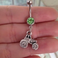 Tractor Belly Ring from Country Wind