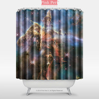 Calendar of NASA Space Posters Hubble Space Shower Curtain Home 019