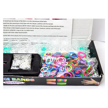 600 Loom silicone rubber bands refill in rainbow colors,Ralnbow Loom Bracelet Making KIT With 600 Mix Color Rubber Bands+24 C-CLIPS Loom