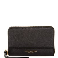 Marc Jacobs | Saffiano Zip Leather Phone Wristlet | Nordstrom Rack