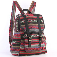 Hippie Backpack Diaper Bag, Student/ Travel/ College/ Teen/ Boho Gypsy