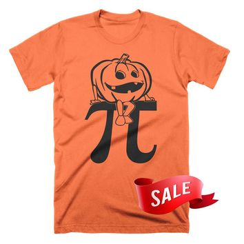 MEDIUM ON SALE - Pumpkin Pi T-Shirt Funny Math Shirts Funny Pumpkin TShirt Funny Halloween Tees Gifts For Teachers Tee Shirts