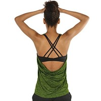 Yoga Tops Activewear Workout Clothes Open Back Fitness Racerback Tank Tops For Women