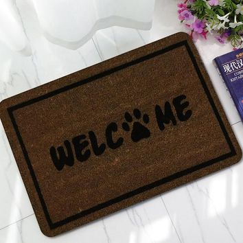 Autumn Fall welcome door mat doormat UD New Welcome s Rubber  3D Letter Yoga Carpet Everything for The Kitchen Living Room Bedroom Floor Mats AT_76_7