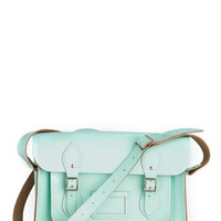 Cambridge Satchel Upwardly Mobile Satchel in Mint - 14"