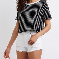 Striped Ringer Tee | Charlotte Russe