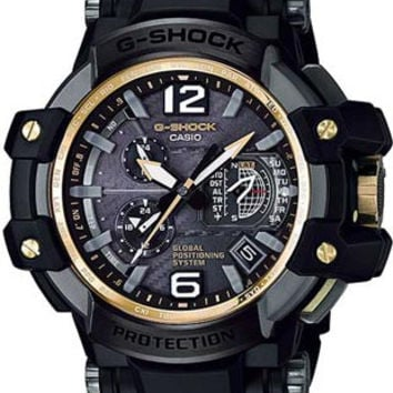 Casio G-Shock Mens Gravitymaster Aviation Watch - GPS Atomic Solar Hybrid