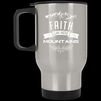 "Christian Gifts - ""Faith Can Move Mountains"" Mugs"