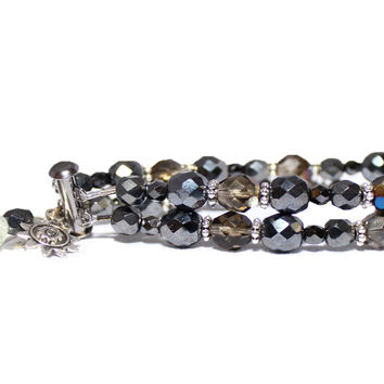 Gunmetal and Smoke Sun Sensing Skin Cancer Prevention Bracelet