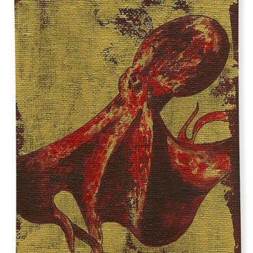 Spotted Red Octopus - Bath Towel