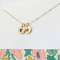 Gold Inital Necklace, 14k Gold Filled Initial Necklace, Gold Initial Jewelry, Mommy Necklace, Personalized Initial Necklace, Tiny Gold