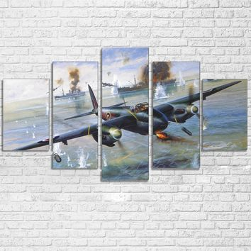 Military Fighter Bomber Aircraft Vintage Plane Paintings HD Print Poster Home Decor
