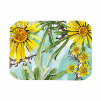 """Liz Perez """"Sunny Day"""" Yellow Floral Place Mat"""