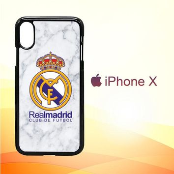 logo jersey real madrid W5301 iPhone X Case