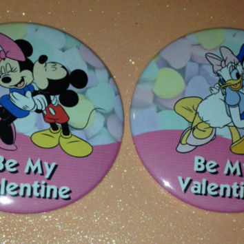 Be My Valentine Disney Inspired Buttons