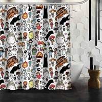 New All Studio Ghibli Character Totoro Custom Shower Curtain Bathroom Decor Bath Curtain Shipping