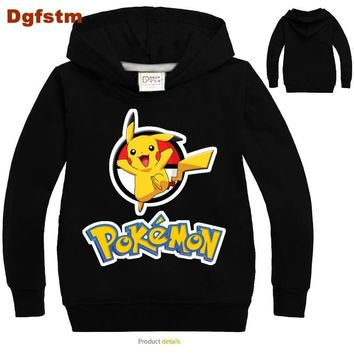 DGFSTM Baby Boys Clothes 2017 Toddler Boys T Shirts for Kids  Sweatshirt Boys Cartoon Blouse for Girls Birthday Boy ShirtKawaii Pokemon go  AT_89_9