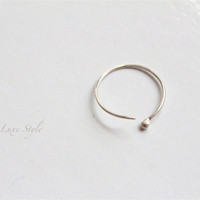 Nose Ring, Silver nose ring, piercing ,Open hoop jewelry