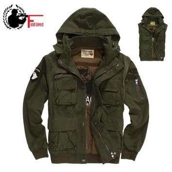 Trendy Military Style Men's Winter Jacket Hooded Air Force Pilots Army Green Jacket Bomber Male Plus Size Coat Male Vest Waistcoat 3XL AT_94_13