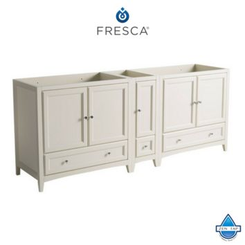 "Fresca Oxford 83""-84"" Traditional Double Sink Bathroom Cabinets"