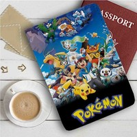 Pokemon Characters Leather Passport Wallet Case Cover