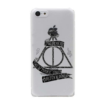 """""""Together they make one Master of Death"""" Harry Potter Deathly Hallows Hard Transparent Case Cover for iPhone 7 5 5S SE 5C 4 4S  6 6S Plus"""