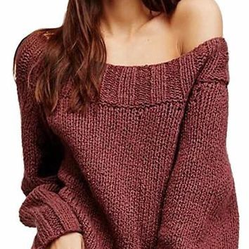 Women's Off The Shoulder Lounge Sweater