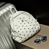 On Sale Hot Deal Comfort Back To School Stylish College Casual Rivet Leather Ladies Fashion Backpack [6580874631]