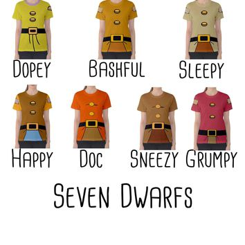 Women's Snow White and the Seven Dwarfs Inspired ATHLETIC Shirt