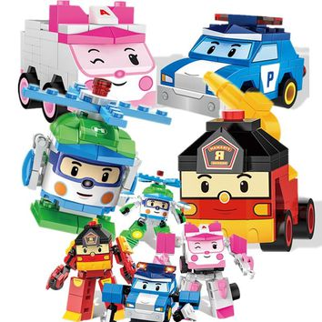 HOT NEW Figure Creator Ideas Police HELLY AMBER ROY Car Cartoon Building Blocks Model Sets Kid Compatible Legoings Duplo
