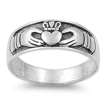 925 Sterling Silver Claddagh Legend Ring