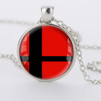 Super Smash Bros Ball red and Black Pendant