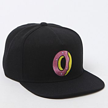 ODD FUTURE Single Donut Black Snapback Hat - Mens Backpack - Black - One