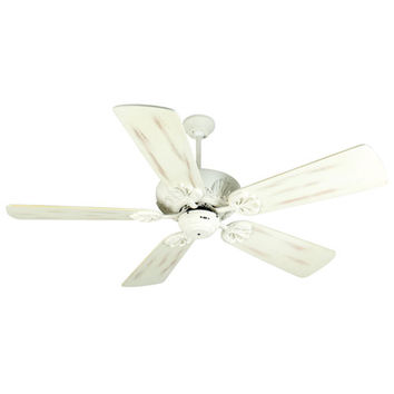 Craftmade K10911 Cordova Antique White Ceiling Fan with 54-Inch Premier Distressed Antique White Blades