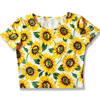 Sunflower Crop Top - LookbookStore