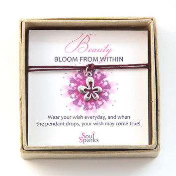 Beauty Bloom from Within Flower Make a Wish Bracelet / Anklet