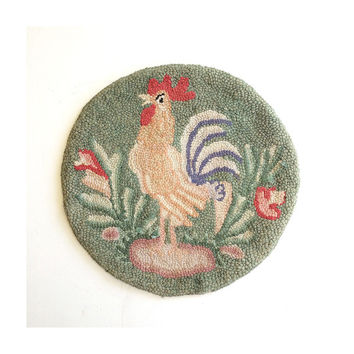 Vintage Chair Pad  - Rooster  Chair Pad