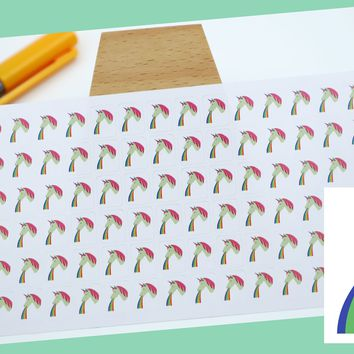 UNICORN - RAINBOW || fantasy stickers || small colored icon | for your planner or bullet journal