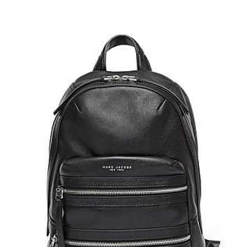 Biker Large Leather Backpack - Marc Jacobs