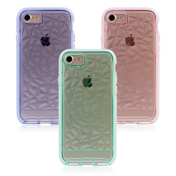 Diamond Texture Drop Protective Grip Case for iPhone 7 6S 4.7 inch Soft TPU Back Cover Case for iPhone 6S 7 Plus-04410