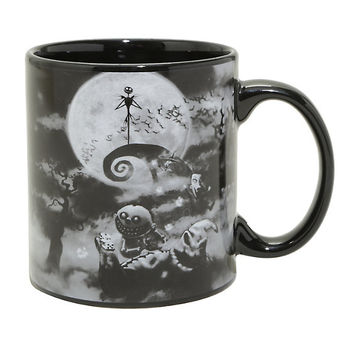 The Nightmare Before Christmas Black & White Ceramic Mug
