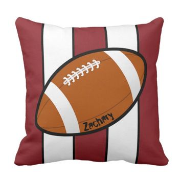 Football Sporty Stripes Custom Pillow