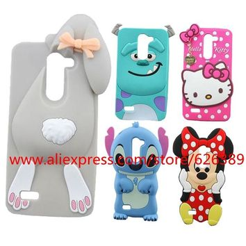 For LG L Bello Case Cartoon Sulley Tiger Rabbit Minnie Hello Kitty Stitch Pig 3D Phone Cases Cover For LG L Bello D331 D335 D337