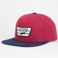Vans Full Patch Mens Snapback Hat Red/Blue One Size For Men 25433637101