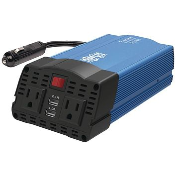Tripp Lite 375-watt-continuous Powerverter Ultracompact Car Inverter With Usb & Battery Cables