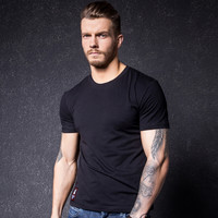 Round-neck Summer Short Sleeve T-shirts Korean Bottoming Shirt [10488642435]
