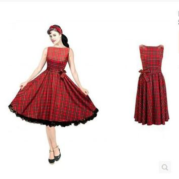 Striped Vintage Retro 50s 60s Dress European Style